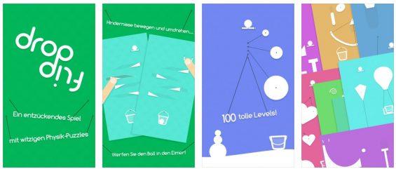 Drop Flip ist ein physikbasiertes Geschicklichkeitsspiel minimalistischer Art. Deine Aufgabe ist es, den ball in den Korb zu bekommen - dafür gibt es 100 verschiedene Aufgaben.
